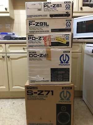 Pioneer Z Series Hi-fi Z71 Speakers and CD, Z81 Amp And Turntable, Z91 Tuner