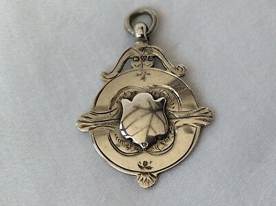 SOLID SILVER WATCH CHAIN FOB - Chester, 1923.