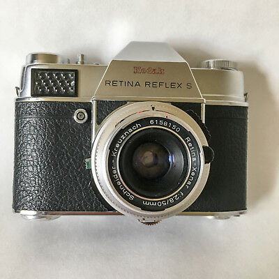 Kodak Retina Reflex S with 50mm F/2.8 lens 35mm SLR Camera AS IS