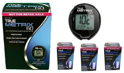 TRUE METRIX GO Self Monitoring Blood Glucose Meter +150Strips Exp 2020 Free Ship