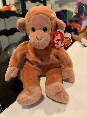 11c0cc78485 Ty Beanie Baby ~ BONGO the Monkey Retired with Brown Tail ~ Mint NWT