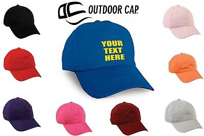 Custom Adjustable Dad Hat Baseball Cap Embroidered Hat with Your TEXT ONLY d7925518af5b