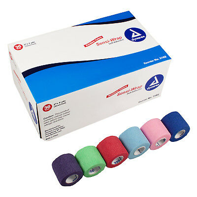 """Sensi Wrap Self-Adherent Tape, 2"""" x 5 Yds,assorted colors 1 to 24 ROLL free ship"""