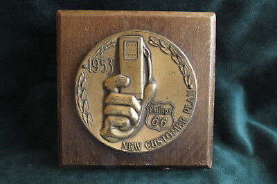 1953,Phillips 66,New Customer Plan,Gas Pump In Hand Logo,Advertising Paperweight