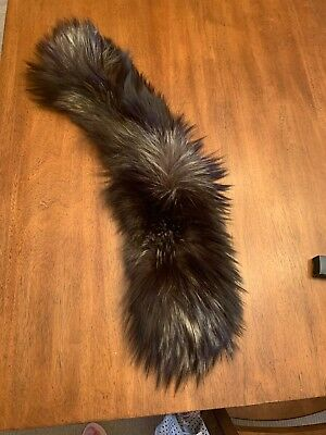 genuine fox fur collar, brown/gray with blond tips