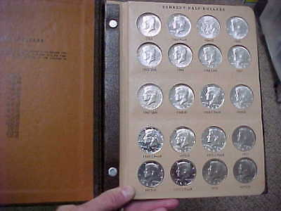 1964 - 1982 Pds Kennedy Half Dollar Bu Ms Set With Proofs  50 Coin Set In Dansco