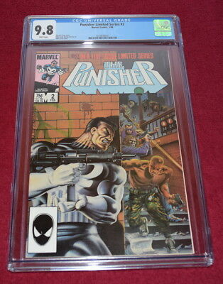 Punisher Limited Series #2 CGC 9.8 NM/MINT Mike Zeck cover Netflix Marvel 1986