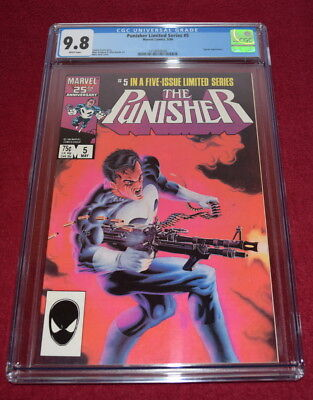 Punisher Limited Series #5 CGC 9.8 W Pages Mike Zeck Jigsaw Appearance