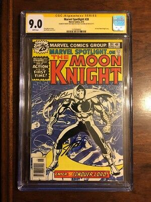 Marvel Spotlight #28 CGC 9.0 Signed By Stan Lee And Marv Wolfman