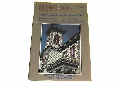 #2399 1983 January  Nutshell News Minatures Magazine For Creators & Collectors