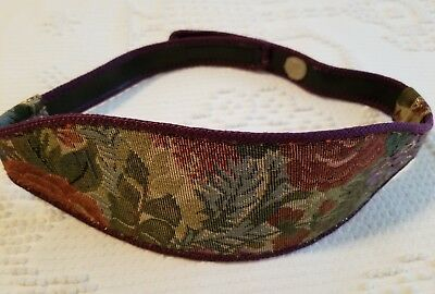 Vintage Wide Tapestry Belt 1980s  Small with Velcro Closure