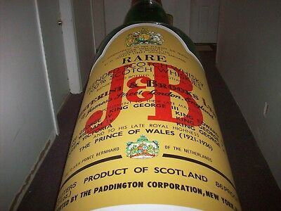 10 Foot Tall Blow Up Bottle of J & B Scotch Whiskey For Store, Bar or Man Cave
