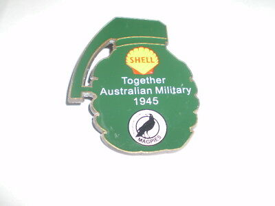 Port Adelaide Magpies Football Club - Shell badge (Together Aust.Military 1945)
