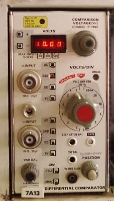 Tektronix 7A13 Differential Comparator Scope Plug In for 7000 Series Mainframe