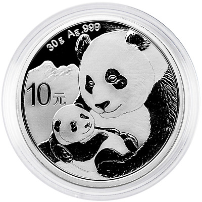 2019 10 Yuan Silver Chinese Panda .999 30g Brilliant Uncirculated