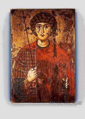 Copy of an antique Russian Orthodox icon. St. George.