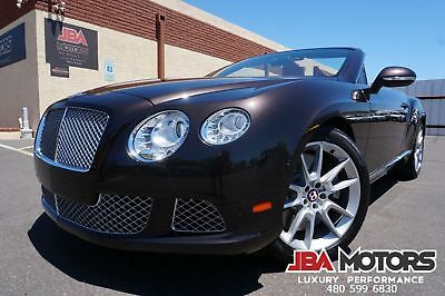 2013 Bentley Continental GT 2013 Bentley Continental GT Convertible GTC W12