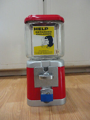 Vintage ACORN Retarded Children Can Be Helped NOS Gumball Machine NEVER USED