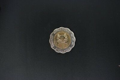 Singapore km#171 2000 $5 copper nickel UNC coin (k042)
