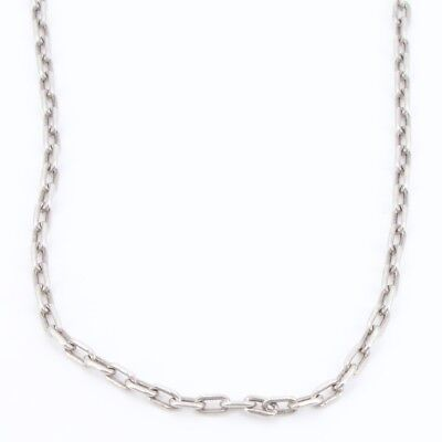 "Sterling Silver - 4mm Cable Chain Link 28"" Necklace - 25.2g"