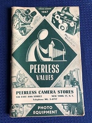 1947 Peerless Camera Vtg. Priced & Illustrated Catalog of Photographic Equipment