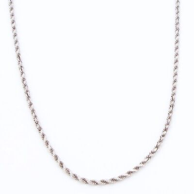 "Sterling Silver - 3mm Twisted Rope Chain Link 24.5"" Necklace - 17.3g"