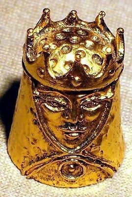 Thimble - Pewter Gold Plated Queen 18kt Gold Plated