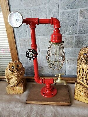 Handcrafted Industrial Style Home Desktable Lamphome Decor Steampunkgauge