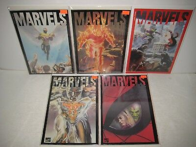 MARVELS 1994 Series MARVEL Comics Lot 0 1 2 3 4 Alex Ross Kurt Busiek