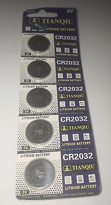 Tianqiu 3 Volt Lithium Motherboard CMOS Button Battery Type CR2032 (5-pack)