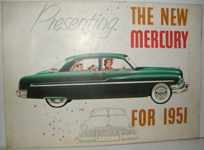 Presenting The New Mercury For 1951 brochure / poster