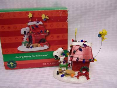 "Dept 56 Peanuts Snoopy & Woodstock ""getting Ready For Christmas"""