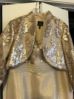 Floor length mother of the bride dress size 14