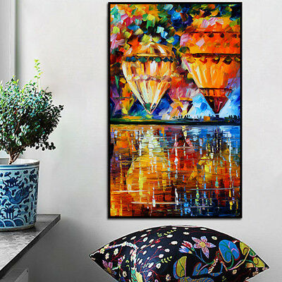 Modern Hot Air Balloon Canvas Print Oil Painting Picture Christmas Home Decor US