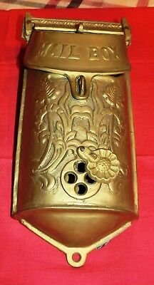 Solid Brass Vintage Victorian-type Wall-mount Mailbox for Standard Mail