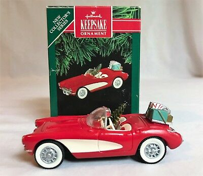 1991 Hallmark Keepsake 1St In Series 1957 Corvette In Box W/ Price Tag Free Shp