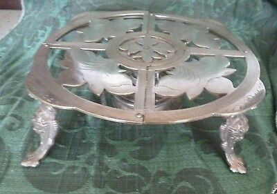 SUPERB!!  Antique French Silverplated Warming Stand  . 1860  Renaissance Revival