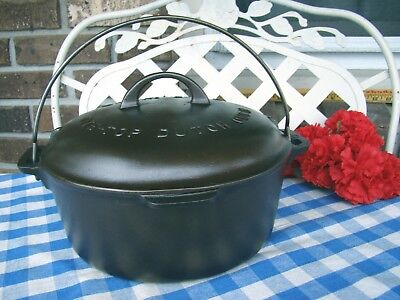 Griswold Cast Iron Large Logo #8 Tite-Top Dutch Oven with Matching Lid