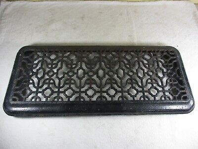 Antique Cast Iron House Floor Wall Grate Heat Register Vent Ornate  21 x 9