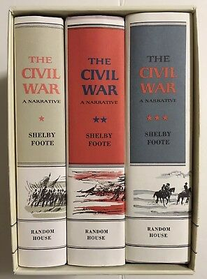 The Civil War: A Narrative by Shelby Foote - 3 Volume Box Set