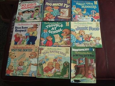 Berenstain Bears Softcover 9 Book Lot