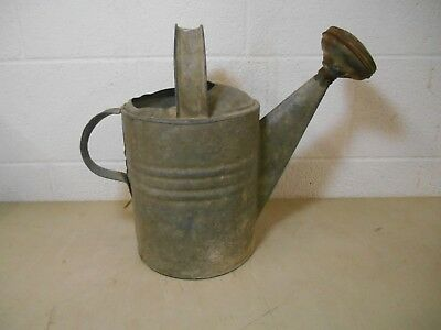 Vintage watering can galvanized steel #8