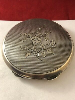 Antique Adie Bros Hallmarked Sterling Silver Makeup Compact 020718@