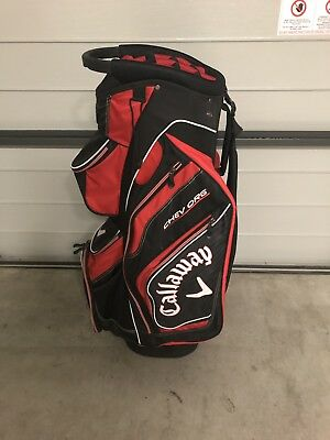 Callaway Chev Org 2017 Cart Golf Bag -   Black / Red - Used Once - As New