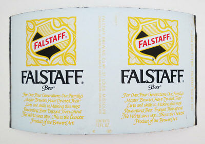 Falstaff Beer Unrolled Can, Falstaff Brewery, St. Louis, Missouri