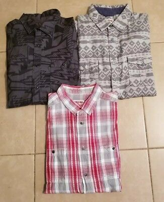 Lot of 3 Mossimo Supply Co. Men's Casual Button Down Shirts Long Sleeve size L