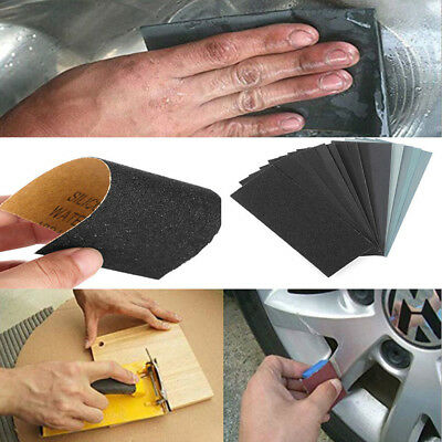 Wet Dry Sandpaper 150-8000# Grit Abrasive Waterproof Paper Sheets Car Paint Tool
