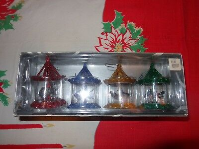 Dept 56 Collectible Multi Color Pinwheel Spinner Ornament Set of 4 In Orig Box