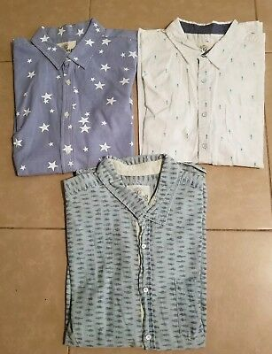 Lot of 3 Vintage Roebuck & Co. Men's Button Down Shirts Short Sleeve size L/XL