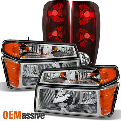 Fit 04-12 Chevy Colorado | GMC Canyon Truck Clear Headlights + Tail Lights